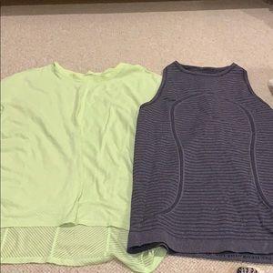 2 lulu lemon work out shirt!